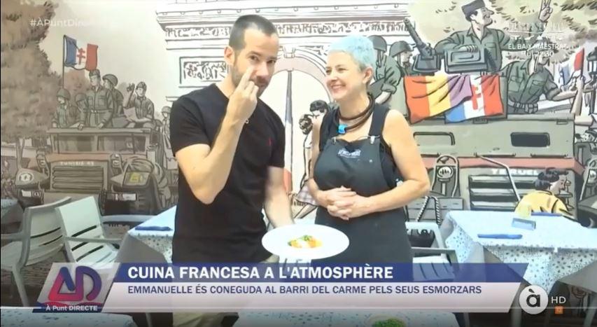 Emmanuelle cocina nuevamente en À Punt Directe TV