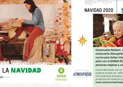 Receta de Emmanuelle en el catálogo de navidad de Oxfam Intermón