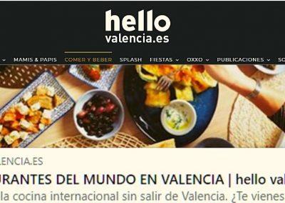 Revista Hello: restaurantes del mundo en Valencia